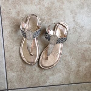Shoes - Gold Strappy Sandals 💛